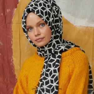 15-meryemce-esarp-online-shop-fresh-scarfs-petek-desenli-sal-siyah1